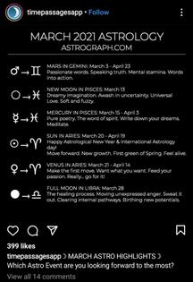 March 2021 @timepassageapp