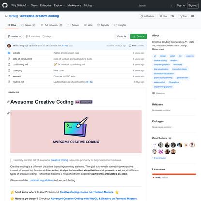 terkelg/awesome-creative-coding