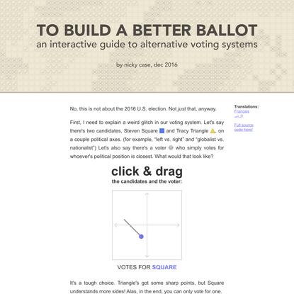 To Build a Better Ballot