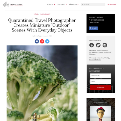 """Quarantined Travel Photographer Creates Miniature """"Outdoor"""" Scenes With Everyday Objects"""