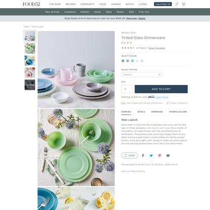 Tinted Glass Dinnerware on Food52