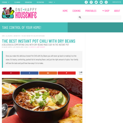 The Best Instant Pot Chili With Dry Beans