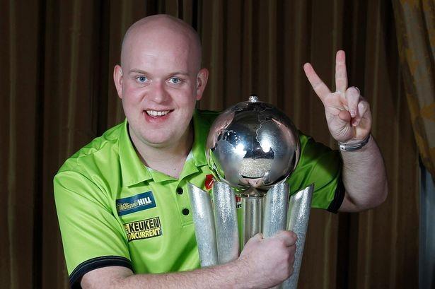 Michael van Gerwen, round darts trophy.jpg