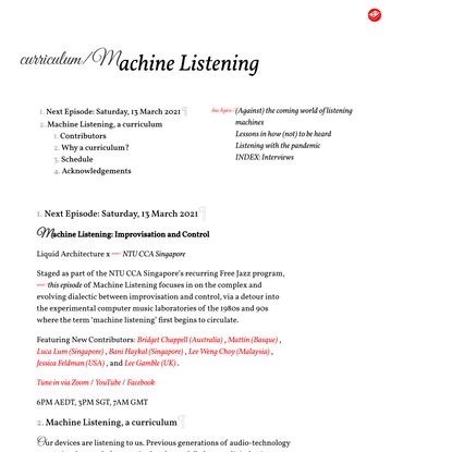 Machine Listening