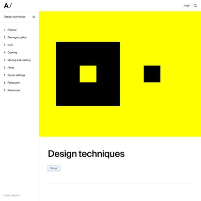 Design techniques — Guides — AREA 17