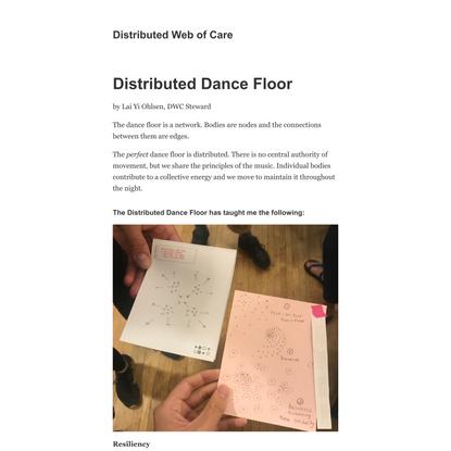 Distributed Dance Floor