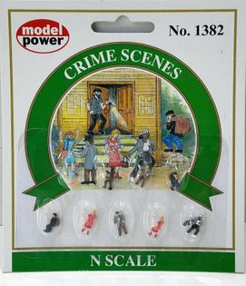 Model Power N Scale 1382: CRIME SCENE FIGURES - Set of 9 - NEW