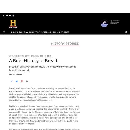 A Brief History of Bread