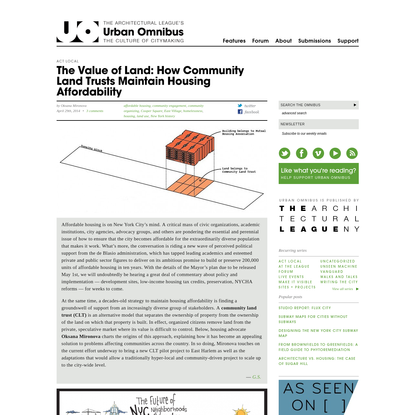 The Value of Land: How Community Land Trusts Maintain Housing Affordability
