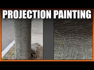 Blender 2.8 Texture extraction projection painting (part 1)