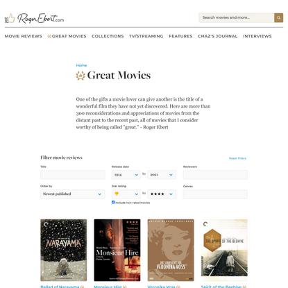 Great Movies | Roger Ebert