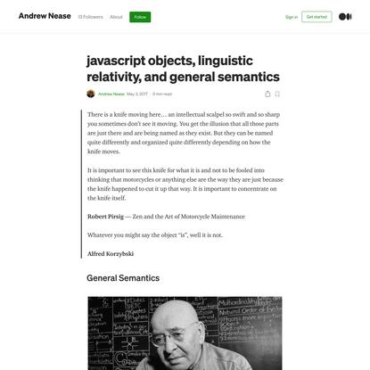 javascript objects, linguistic relativity, and general semantics