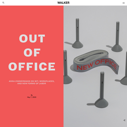 Out of Office: Anna Zimmermann on Wit, Workplaces, and New Forms of Labor
