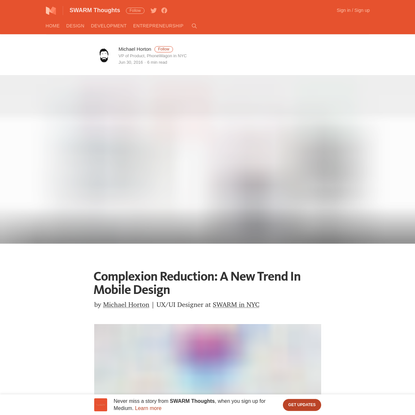 Complexion Reduction: A New Trend in Mobile Design - SWARM Thoughts - Medium