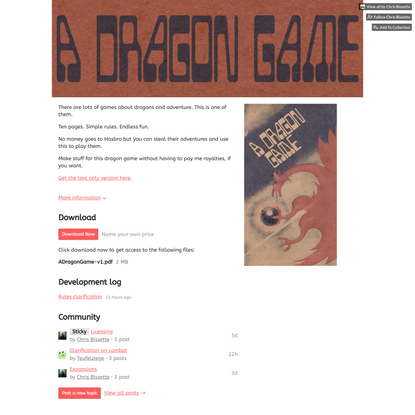 A Dragon Game by Chris Bissette