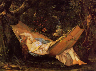 The Hammock, 1844 by Gustave Courbet