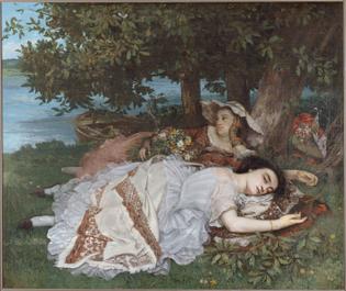 Les demoiselles des bords de la Seine - Gustave Courbet
