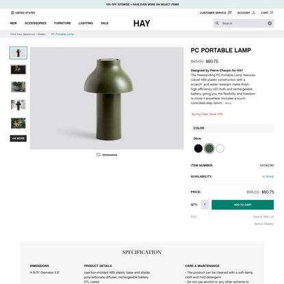 PC Portable Lamp - Lighting - HAY
