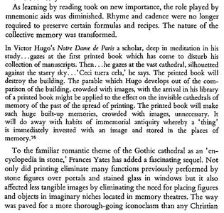 literacy disrupts memory palaces
