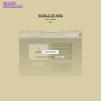 World Of Awe | Net Art Anthology