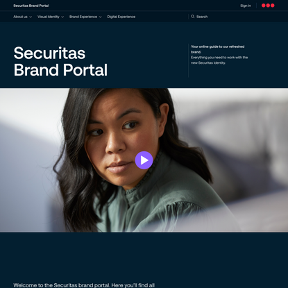 Securitas Brand Portal – See a different world