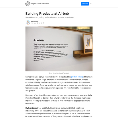 Building Products at Airbnb