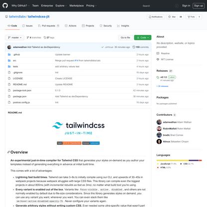 tailwindlabs/tailwindcss-jit