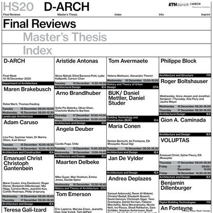 Final Reviews – D-ARCH