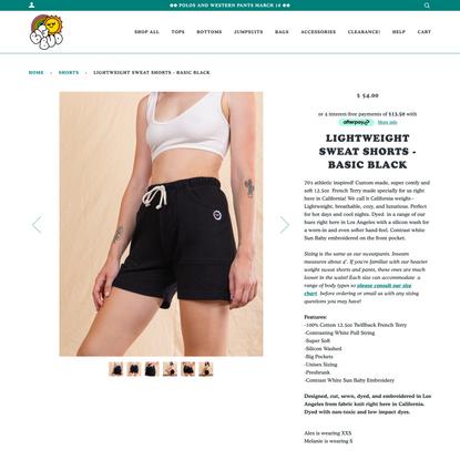 Lightweight Sweat Shorts - Basic Black
