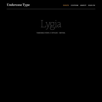 Undercase Type