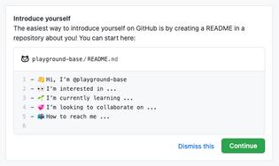 Introduce yourself on Github