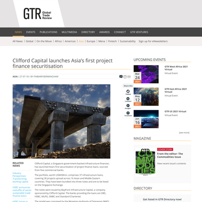 Clifford Capital launches Asia's first project finance securitisation | Global Trade Review (GTR)