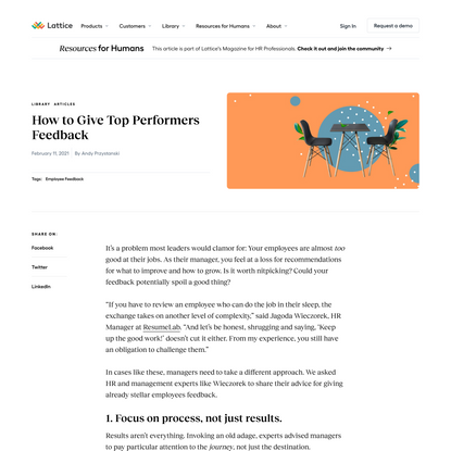 How to Give Top Performers Feedback