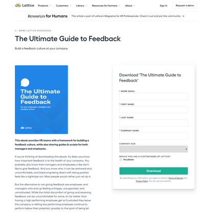 The Ultimate Guide to Feedback
