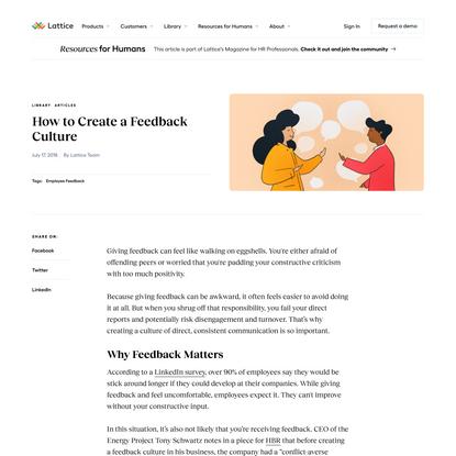 How to Create a Feedback Culture