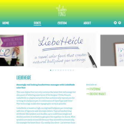 LiebeHeide · LiebeFonts