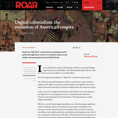 Digital colonialism: the evolution of American empire