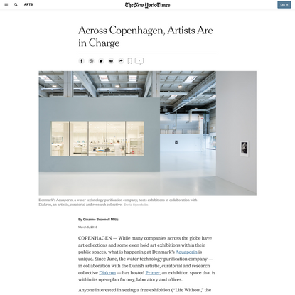 Across Copenhagen, Artists Are in Charge (Published 2018)