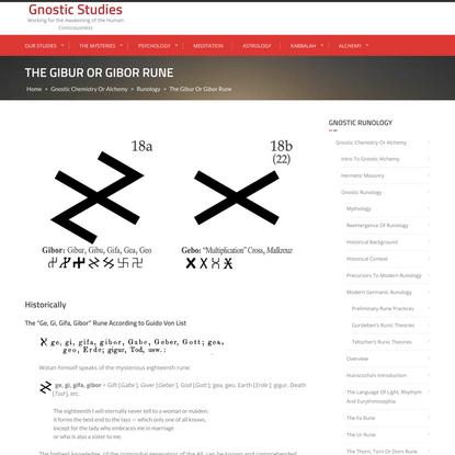 The Gibur or Gibor Rune – Gnostic Studies