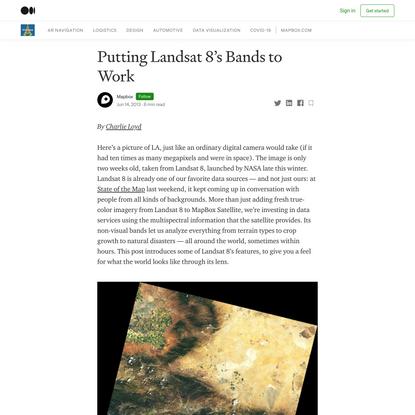 Putting Landsat 8's Bands to Work