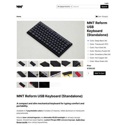 MNT Reform USB Keyboard (Standalone) - MNT Research Shop
