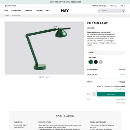 PC Task Lamp - HAY