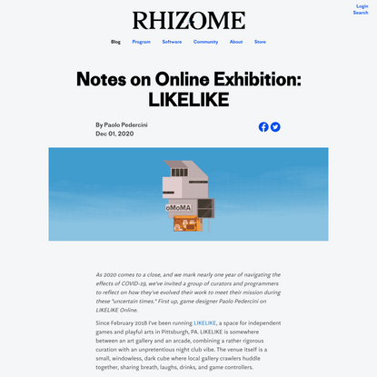 Notes on Online Exhibition: LIKELIKE