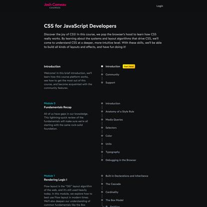 CSS for JavaScript Developers • Josh W Comeau's Course Platform