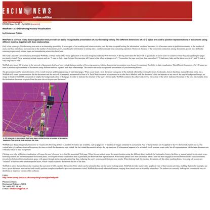 WebPath — a 3-D Browsing History Visualisation