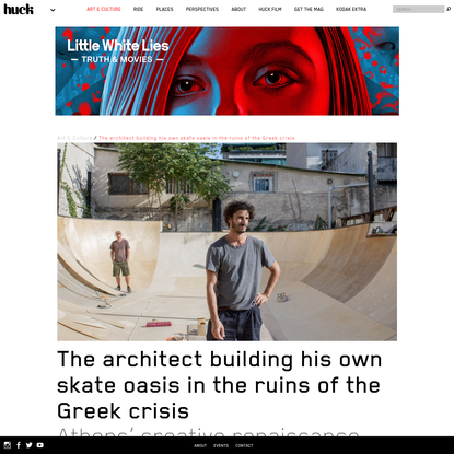 The architect building his own skate oasis in the ruins of the Greek crisis