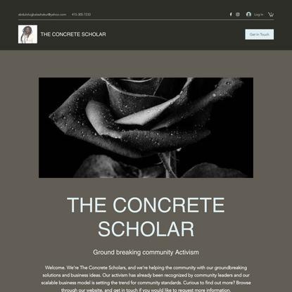 Community Service | The Concrete Scholar | United States