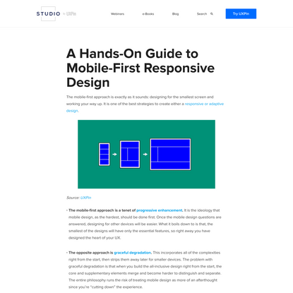 A Hands-On Guide to Mobile-First Design by UXPin
