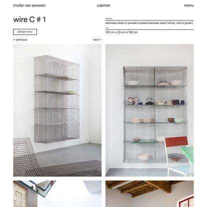 wire C # 1 | Muller Van Severen