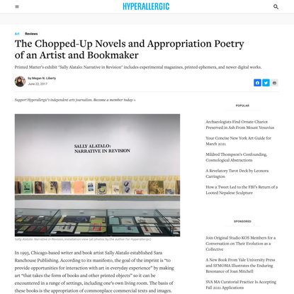 The Chopped-Up Novels and Appropriation Poetry of an Artist and Bookmaker